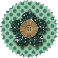 Teal Flower - Malaysia - A Digital Scrapbooking Flower Embellishment Asset by Marisa Lerin