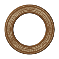 Brown Chipboard Circle - A Digital Scrapbooking Shape Embellishment Asset by Marisa Lerin