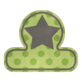 Green Tab with Star - A Digital Scrapbooking Tags Embellishment Asset by Marisa Lerin