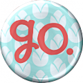 Metal Go Button - A Digital Scrapbooking Brad Embellishment Asset by Marisa Lerin