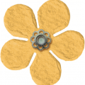 Yellow Flower - Amsterdam - A Digital Scrapbooking Flower Embellishment Asset by Marisa Lerin