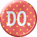 Metal Do Button - A Digital Scrapbooking Brad Embellishment Asset by Marisa Lerin