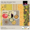 DSC June Blog Train - A Digital Scrapbooking  Paper Asset by Marisa Lerin