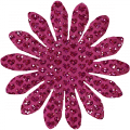 Pink Glitter Flower - A Digital Scrapbooking Flower Embellishment Asset by Marisa Lerin