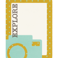 Explore Journaling Card - A Digital Scrapbooking Tags Embellishment Asset by Marisa Lerin