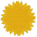 Tissue Paper Flower - yellow - A Digital Scrapbooking Flower Embellishment Asset by Marisa Lerin