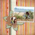 Eastern Cambodia - A Digital Scrapbook Page by Marisa Lerin