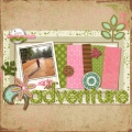 Adventure - A Digital Scrapbook Page by Marisa Lerin