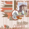 Radcliffe Camera - A Digital Scrapbook Page by Marisa Lerin