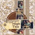 Champagne and High Tea - A Digital Scrapbook Page by Marisa Lerin