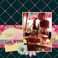 Les Vins - A Digital Scrapbook Page by Marisa Lerin