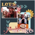 Let's Eat Pancakes - A Digital Scrapbook Page by Marisa Lerin