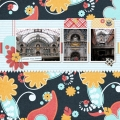 Antwerp Train Station - A Digital Scrapbook Page by Marisa Lerin