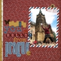 Hello From Prague - A Digital Scrapbook Page by Marisa Lerin