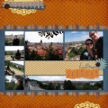 Hilltop Lookout - A Digital Scrapbook Page by Marisa Lerin