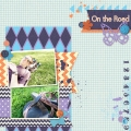 On the Road - A Digital Scrapbook Page by Marisa Lerin