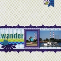 Wander - A Digital Scrapbook Page by Marisa Lerin