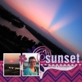 At Sunset - A Digital Scrapbook Page by Marisa Lerin