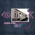 Train Ride - A Digital Scrapbook Page by Marisa Lerin