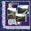 Out My Window - A Digital Scrapbook Page by Marisa Lerin