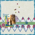 Wherever You Go - A Digital Scrapbook Page by Marisa Lerin