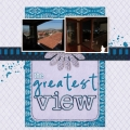 The Greatest View - A Digital Scrapbook Page by Marisa Lerin
