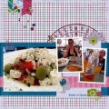 Dinner in Zagreb - A Digital Scrapbook Page by Marisa Lerin