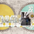 Life is a Journey - A Digital Scrapbook Page by Marisa Lerin
