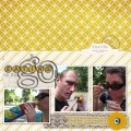 Eating on the Go - A Digital Scrapbook Page by Marisa Lerin