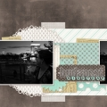 Nightcap - A Digital Scrapbook Page by Marisa Lerin