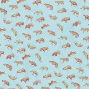 Animal Pattern Blue Digital Scrapbooking Free Download