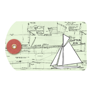 Sailboat Tag - a digital scrapbooking tag embellishment by Marisa Lerin
