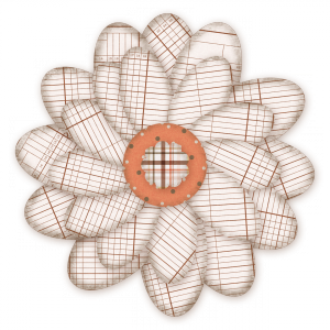 Oxford Paper Flower 1 - a digital scrapbooking flower embellishment by Marisa Lerin