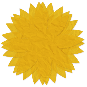 Tissue Paper Flower - yellow - a digital scrapbooking flower embellishment by Marisa Lerin