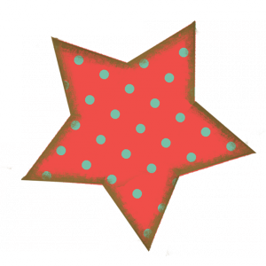 Coral Polka Dot Star - a digital scrapbooking shape/cutout/stamp embellishment by Marisa Lerin