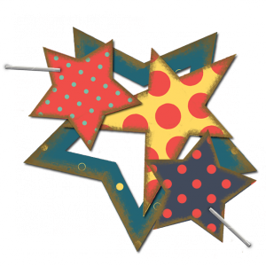Star Cluster - a digital scrapbooking shape/cutout/stamp embellishment by Marisa Lerin