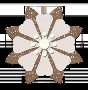Brown paper flower 2 digital scrapbooking free download tan brown paper flower 2 a digital scrapbooking flower embellishment by marisa lerin mightylinksfo