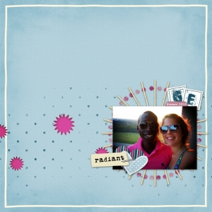 Radiant - a digital scrapbook page by Marisa Lerin