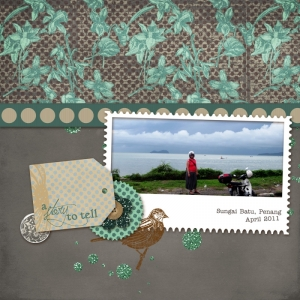A Story to Tell - a digital scrapbook page by Marisa Lerin