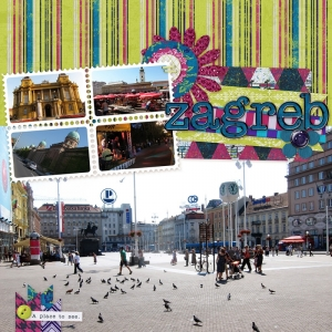 Zagreb - a digital scrapbook page by Marisa Lerin