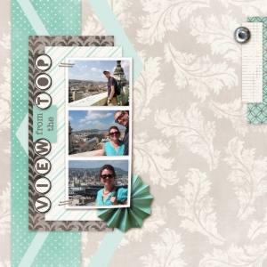 View from the Top - a digital scrapbook page by Marisa Lerin