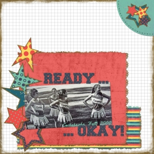 Ready...Okay - a digital scrapbook page by Marisa Lerin