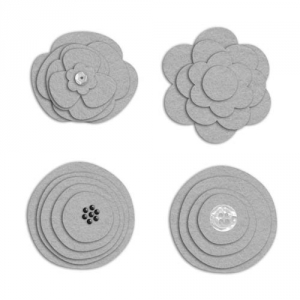 Cloth Flower 16 - Felt - a digital scrapbooking flower embellishment template by Marisa Lerin