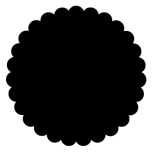 Scalloped Circle Mat Free Download