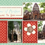 Temples of Angkor: Prasat Ta Som - A Digital Scrapbook Page by Marisa Lerin
