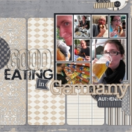 Good Eating in Germany - A Digital Scrapbook Page by Marisa Lerin
