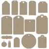 Chipboard Tags - A Digital Scrapbooking Tags Embellishment Asset by Marisa Lerin