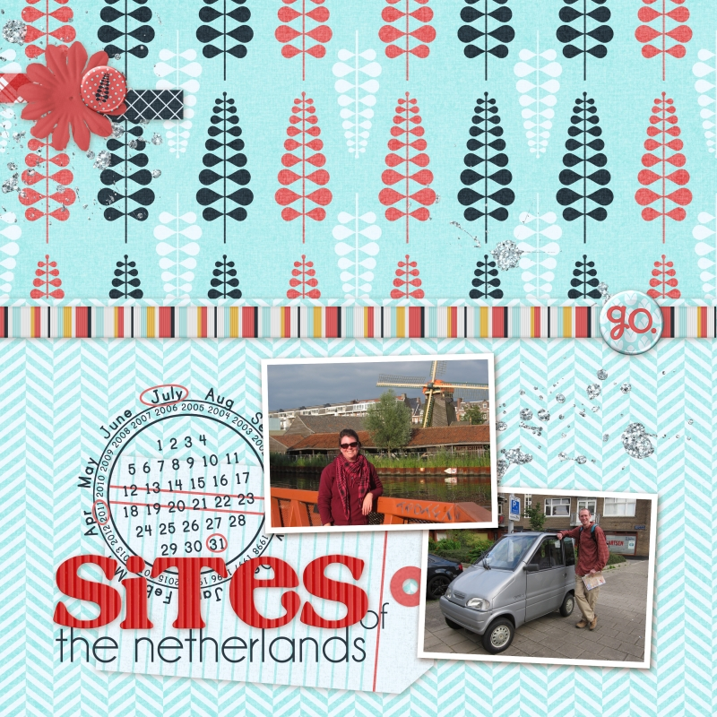 Sites Of The Netherlands Free Download Digital Scrapbook Page Blue