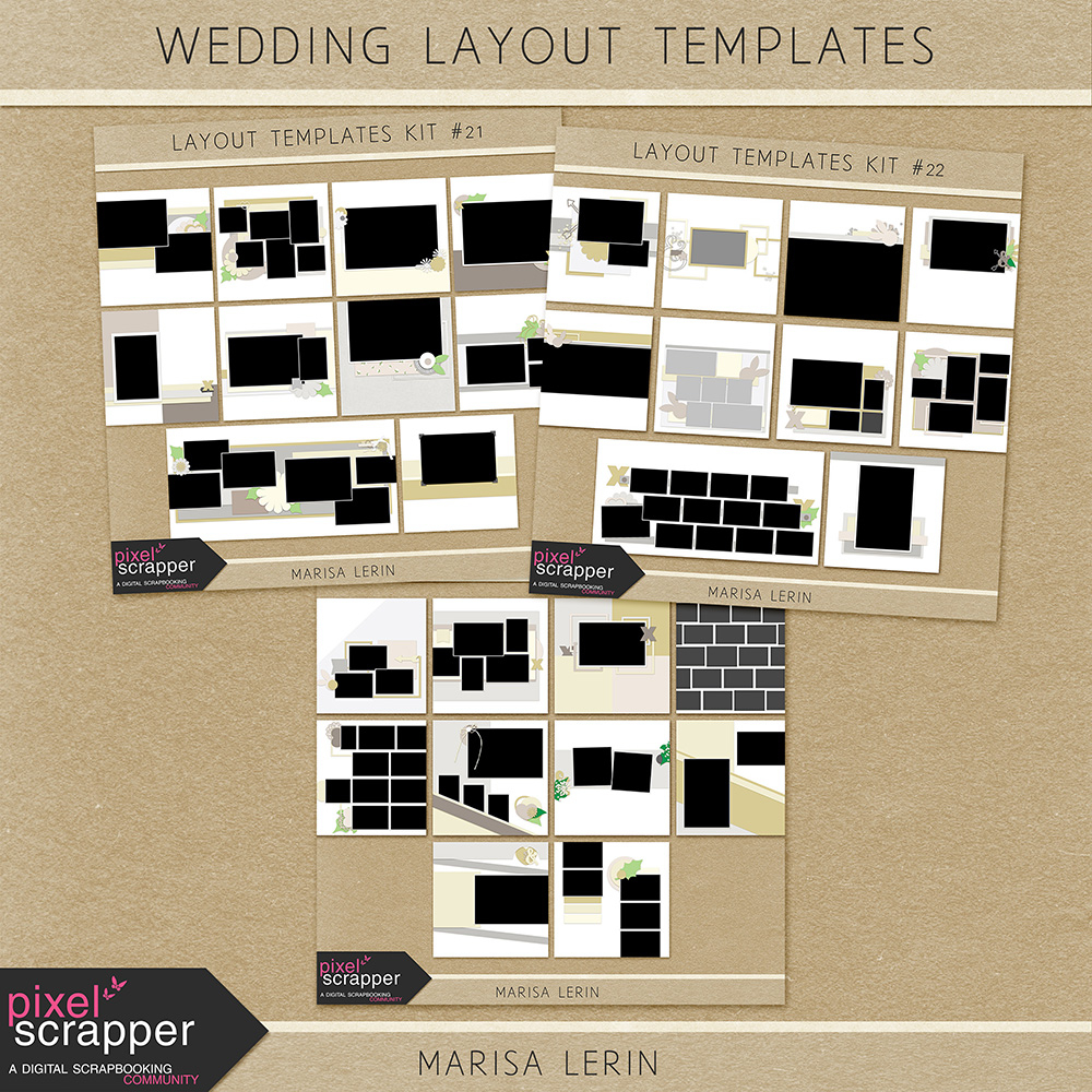 Wedding Layout Templates Bundle