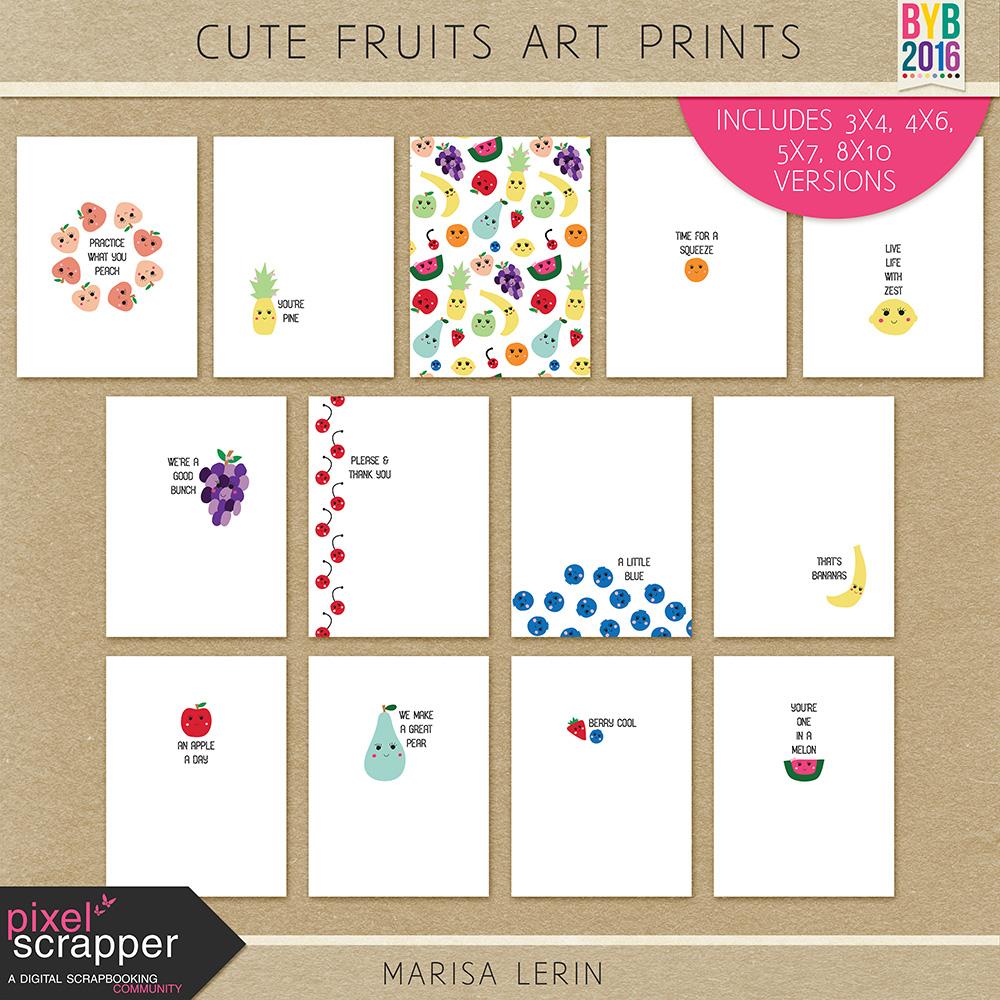 Cute Fruits Art Print